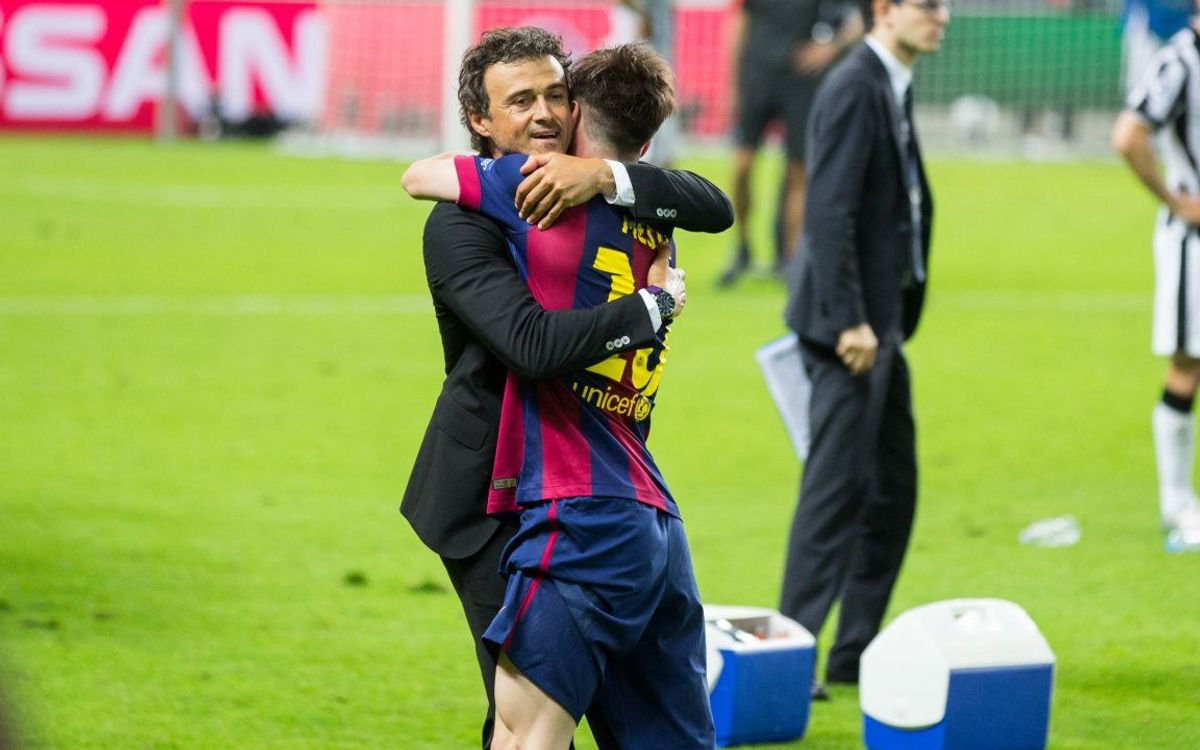 Luis Enrique takes treble in debut season