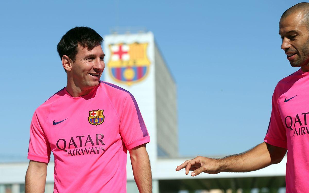 Messi i Mascherano, a la preselecció d'Argentina per a la Copa Amèrica 2015