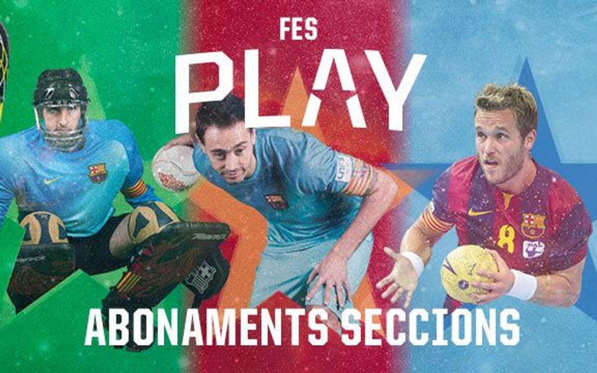 L'1 de setembre s'inicia la campanya de noves altes d'abonats i amics de les seccions d'handbol, futbol sala i hoquei patins
