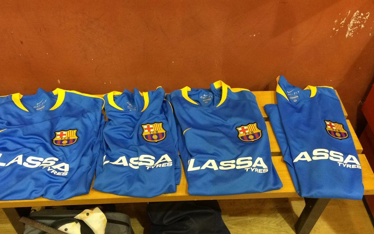 El material utilitzat pel Barça Lassa d'hoquei patins a El Montanyà