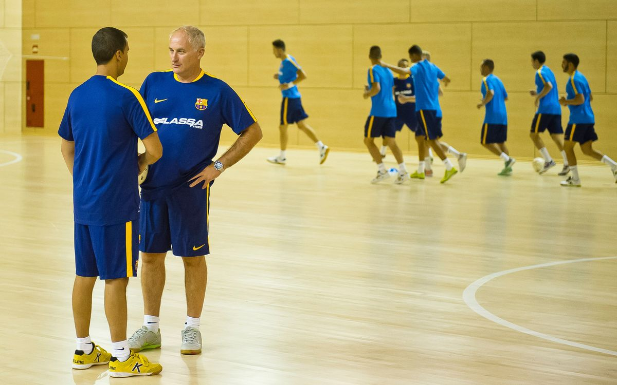 Primer entrenament del Barça Lassa