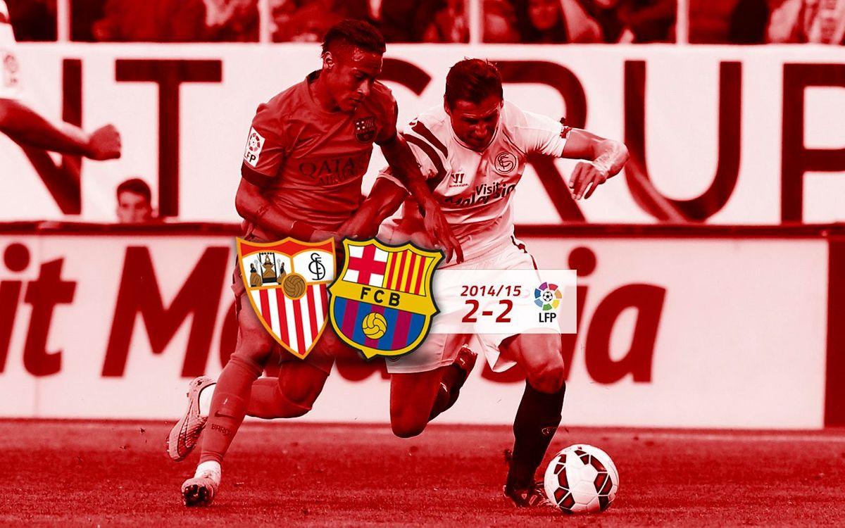 Sevilla: 2 - FC Barcelona: 2
