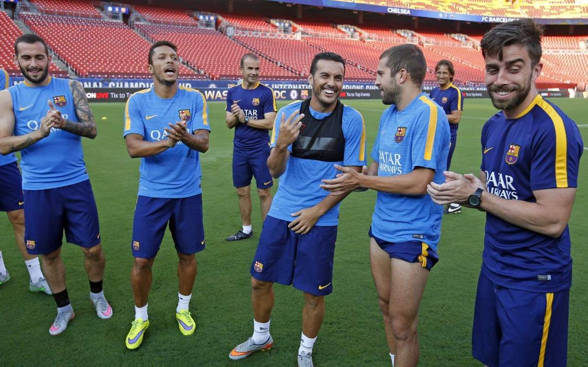 Last FC Barcelona training session in the USA