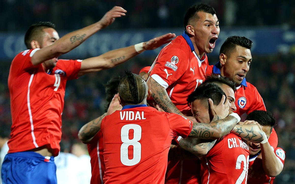 Chile en cuartos tras una gran victoria contra Bolivia (5-0)