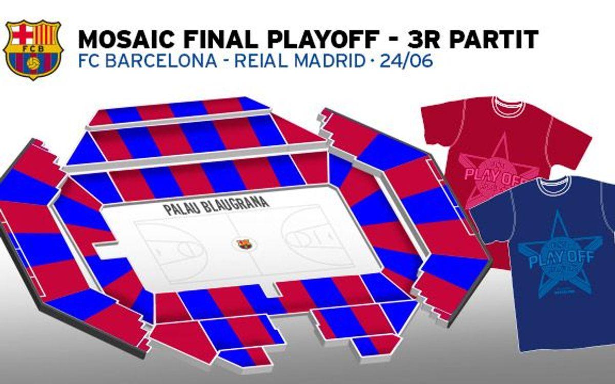 Així serà el mosaic humà del FC Barcelona - Reial Madrid al Palau Blaugrana