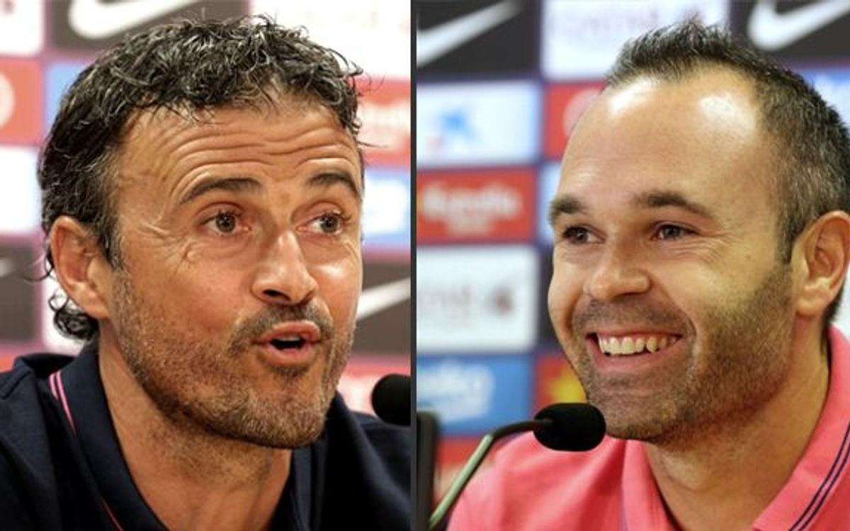 LIVE - Iniesta and Luis Enrique press conference