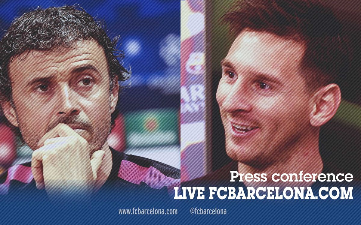 LIVE - Luis Enrique and Leo Messi press conference - Bayern Munich