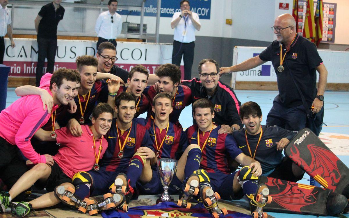 El Júnior del Barça, campió d'Espanya d'hoquei patins