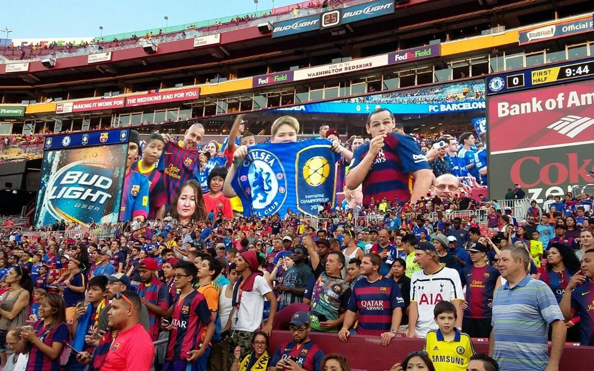 FC Barcelona supporters come out in US finale