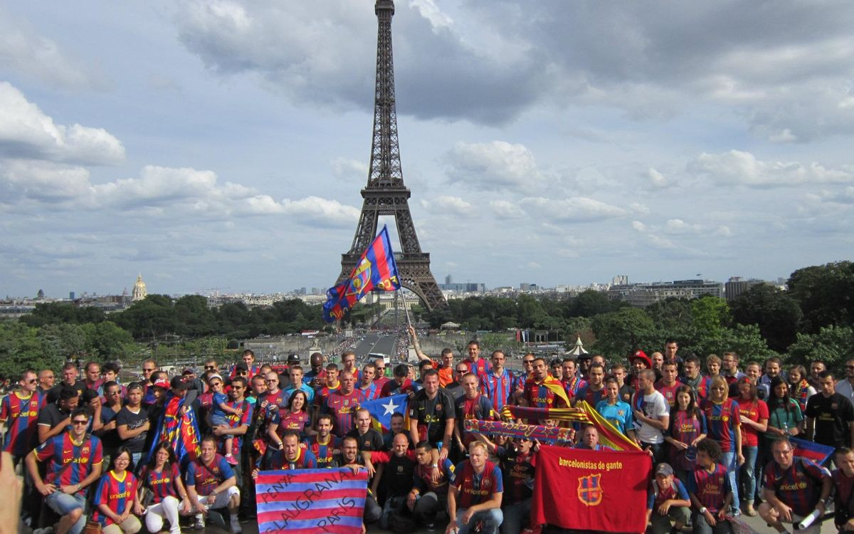 Barça supporter get-together in Paris