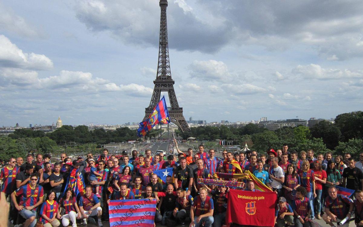 Barça supporter get-together in Paris