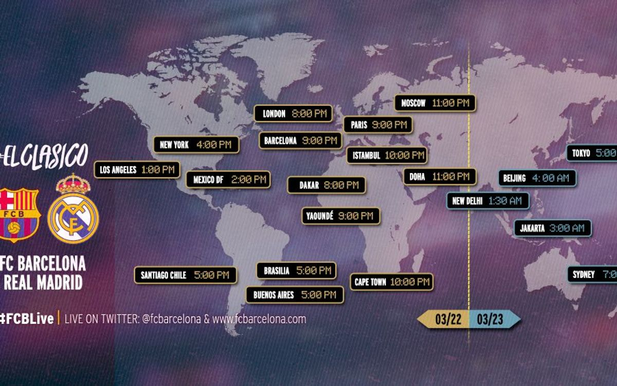 When and where to watch El Clásico between FC Barcelona and Real Madrid