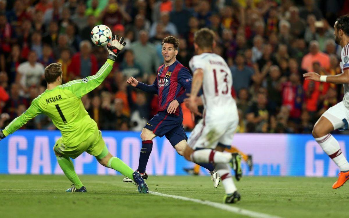 Messi et Neymar, en course pour le meilleur but de la Ligue des Champions