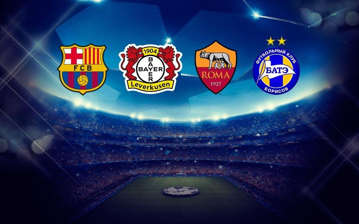 Le FC Barcelone dans le groupe E de la Ligue des Champions avec Leverkusen, la Roma, et le Bate Borisov