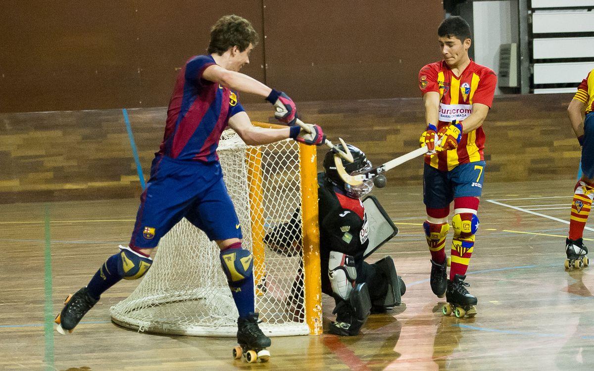 Gran victòria del Barça B d'hoquei