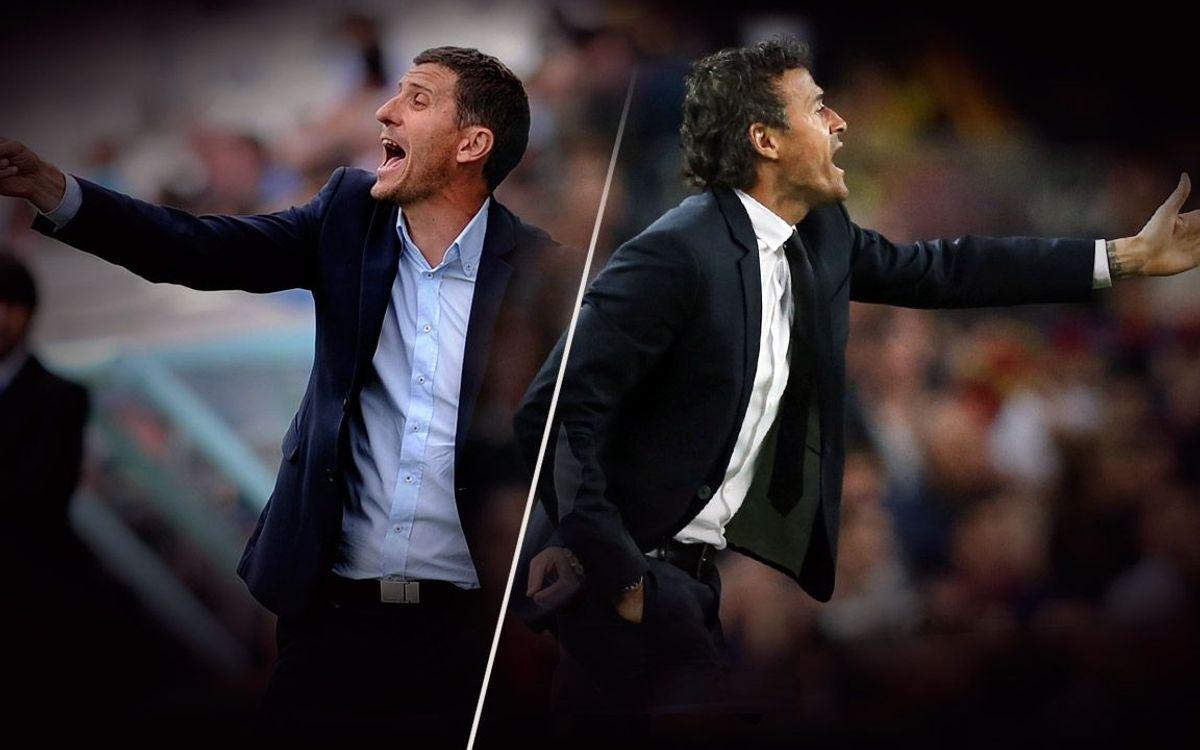 Luis Enrique and Javi Gracia: ten duels as players