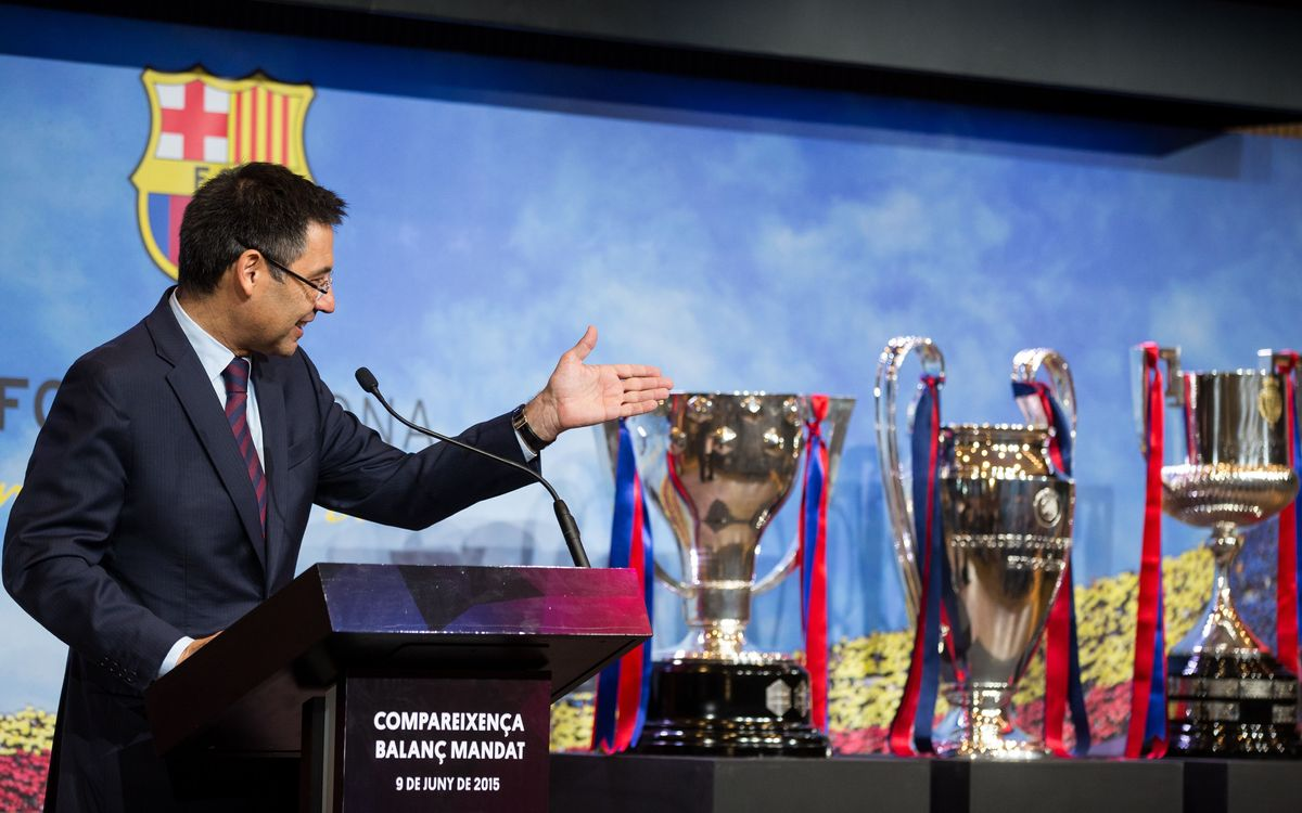 Bartomeu says FC Barcelona have made history