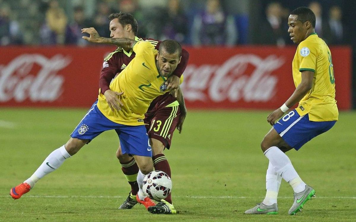 Dani Alves and Brazil chase Argentina semi