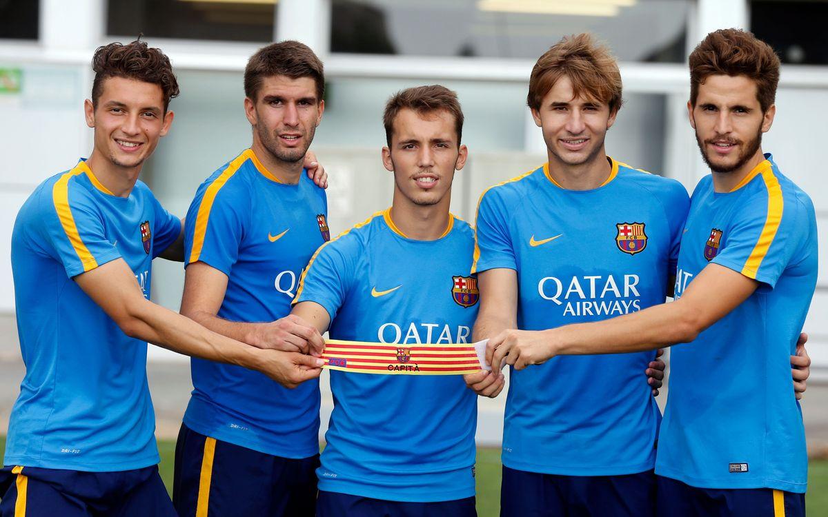 Grimaldo, Samper, Juste, Costa i Babunski, nous capitans del Barça B 2015/16