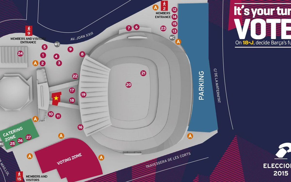 Camp Nou set to be a hive of activity on election day