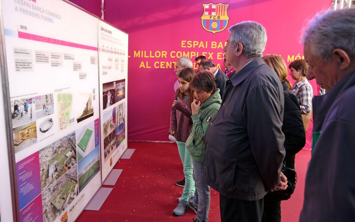 Punts d'informació al Camp Nou i al Palau sobre l'evolució de l'Espai Barça