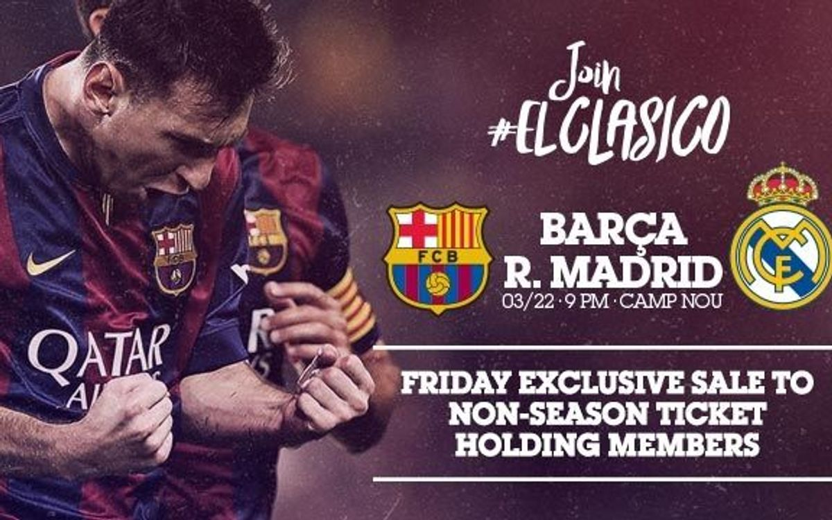 Process for Clásico tickets for members without season tickets opens Friday