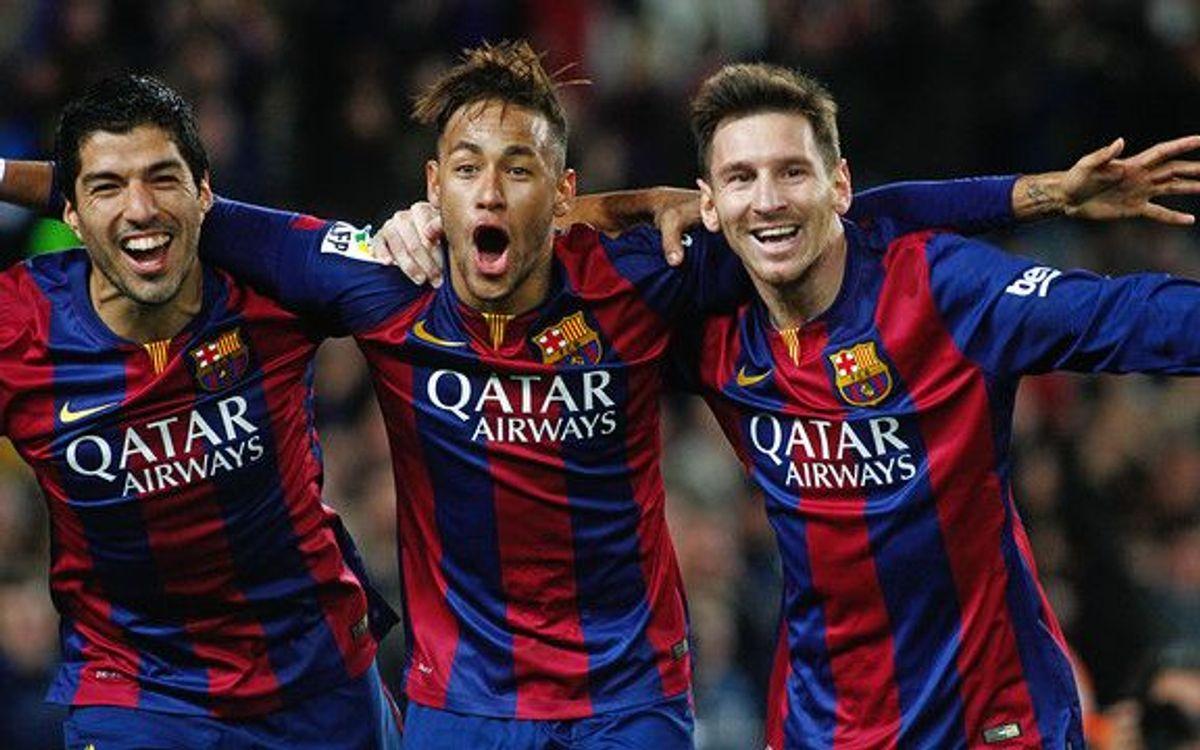 Messi-Suárez-Neymar, historic trident