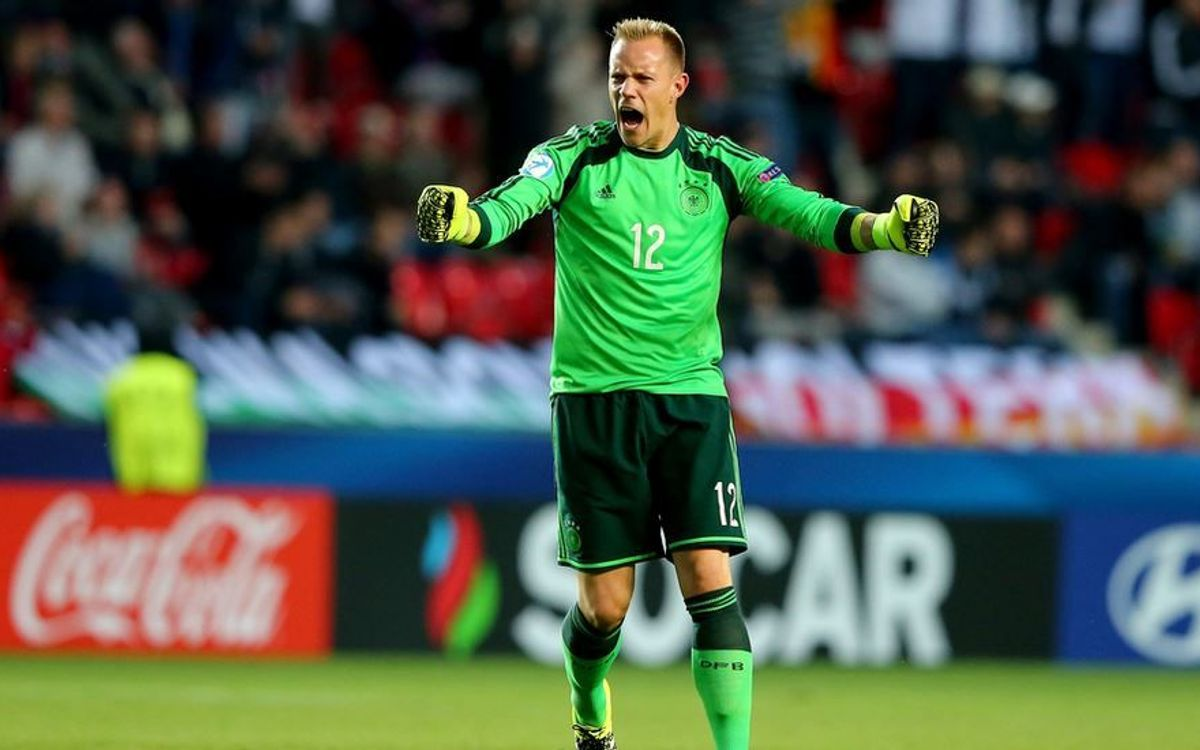 FC Barcelona's ter Stegen and Germany U-21 shutout Denmark, 3–0