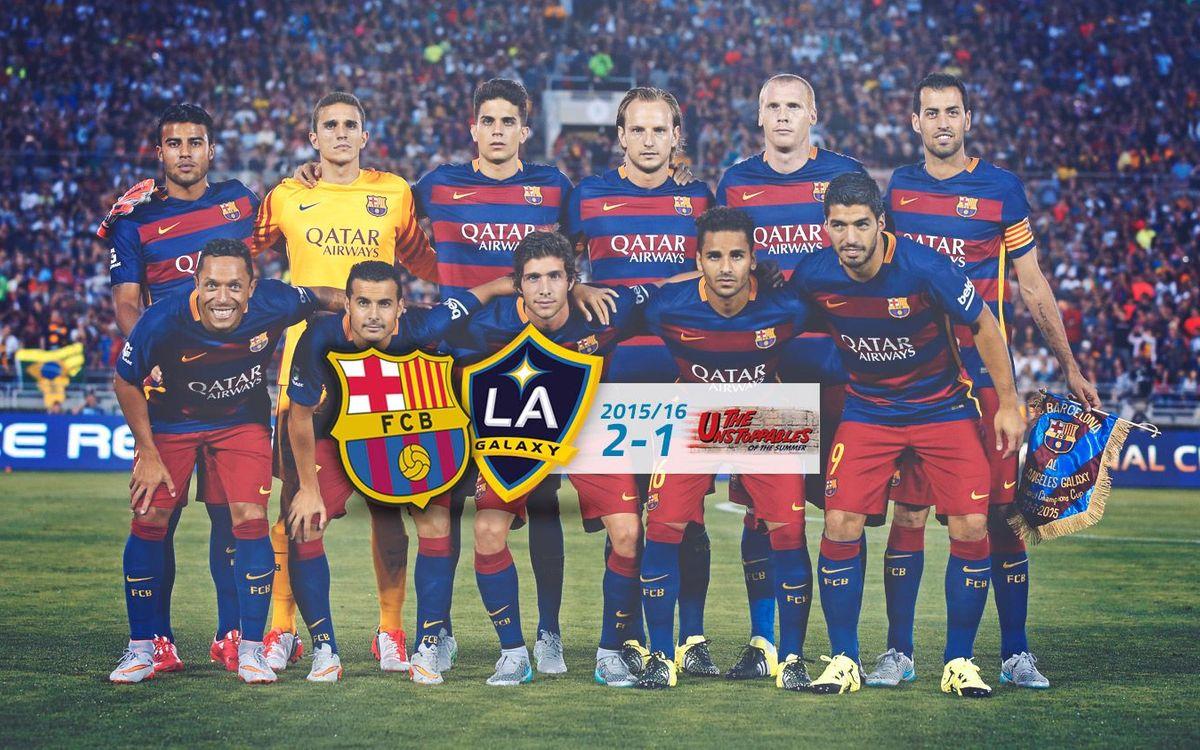 FC Barcelona: 2 - LA Galaxy: 1