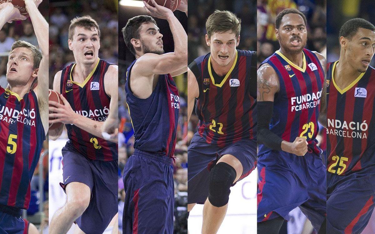 Sis jugadors del FC Barcelona poden debutar en una final de la Lliga Endesa