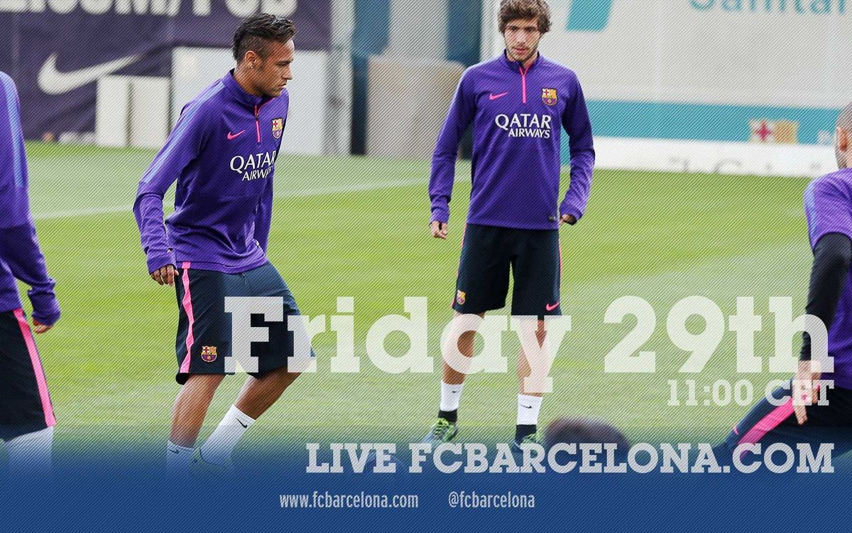 LIVE – First team training session before game against Athletic