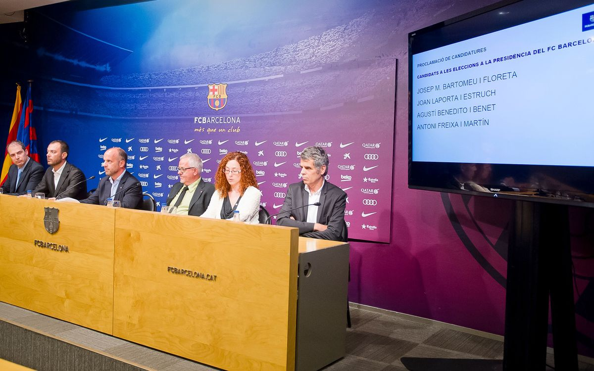 Bartomeu, Benedito, Freixa and Laporta candidates for FC Barcelona president