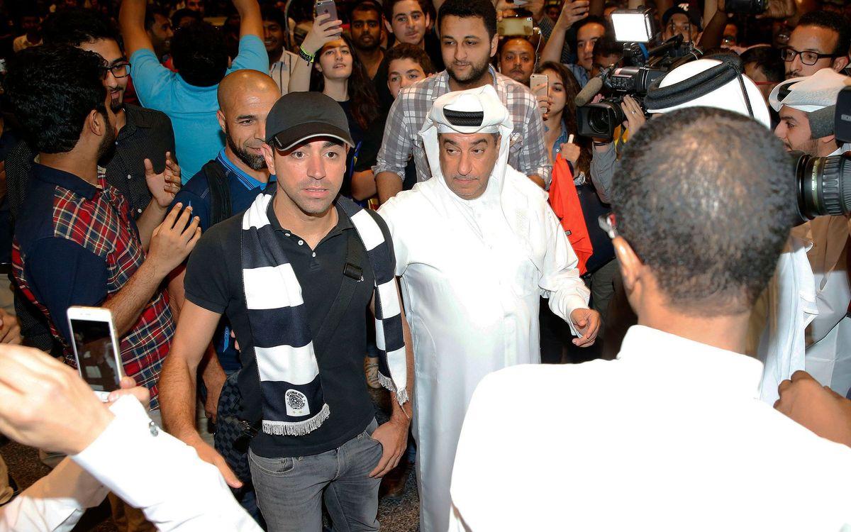 Xavi Hernández, presentat amb l'Al Sadd