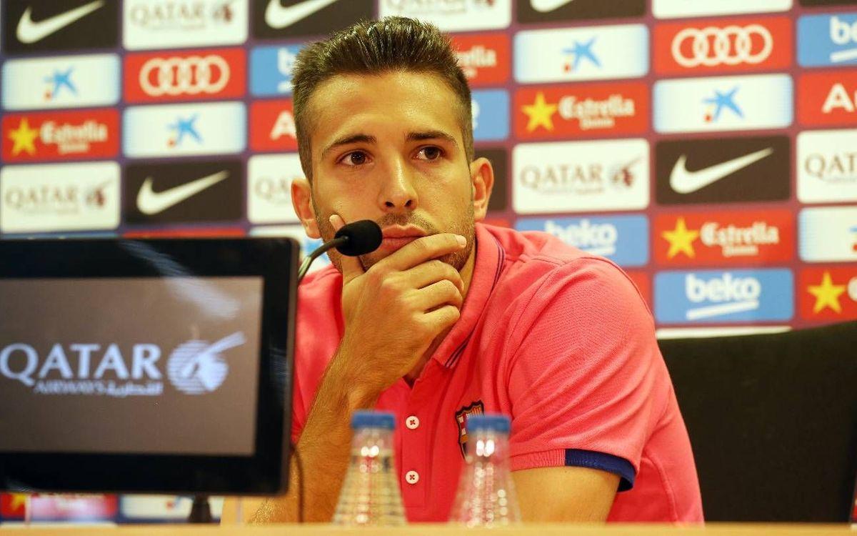 EN DIRECTE - Roda de premsa de Jordi Alba