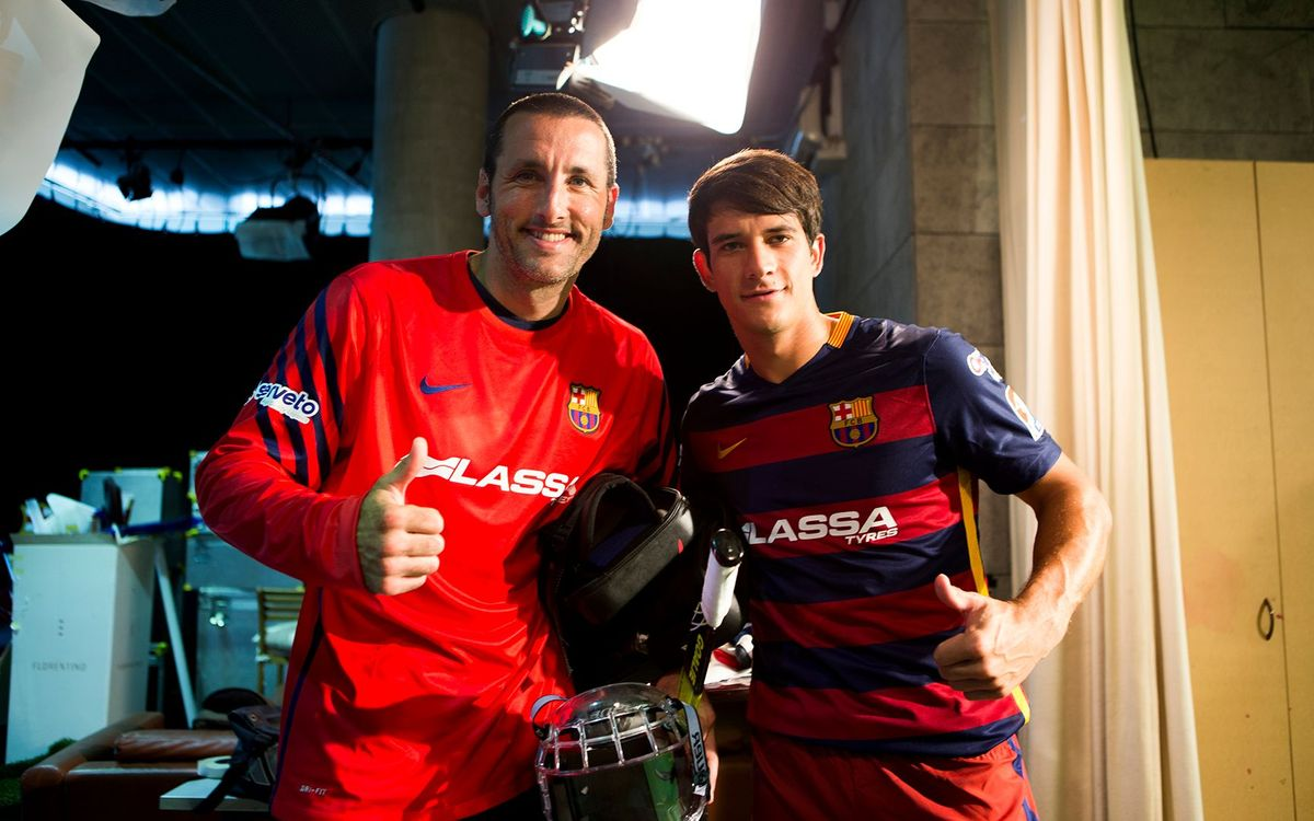 Aitor Egurrola i Pablo Álvarez participen a l'anunci de Lassa de les seccions professionals