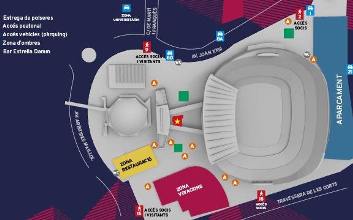 Aparcament gratuït al Camp Nou per als socis el dia de les eleccions