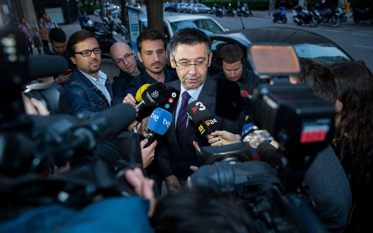 """Josep Maria Bartomeu: """"No hi ha cap favorit"""""""