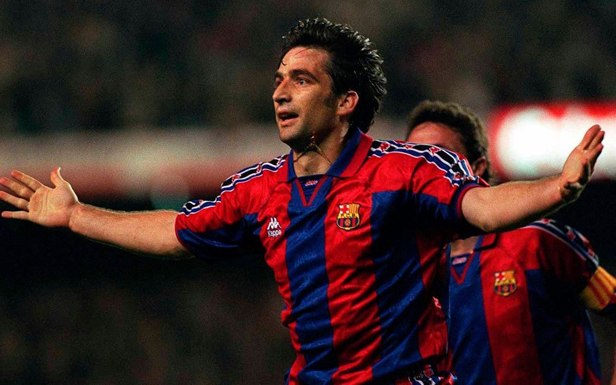 The FC Barcelona past of Juan Antonio Pizzi