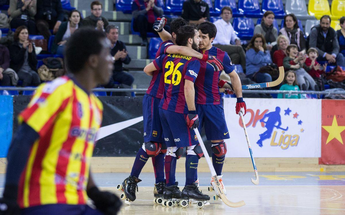 FC Barcelona - CP Manlleu: Leaders win 5-3