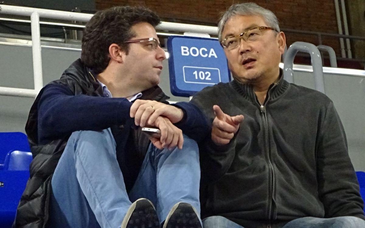 名古屋オーシャンズ、バルサの練習を見学