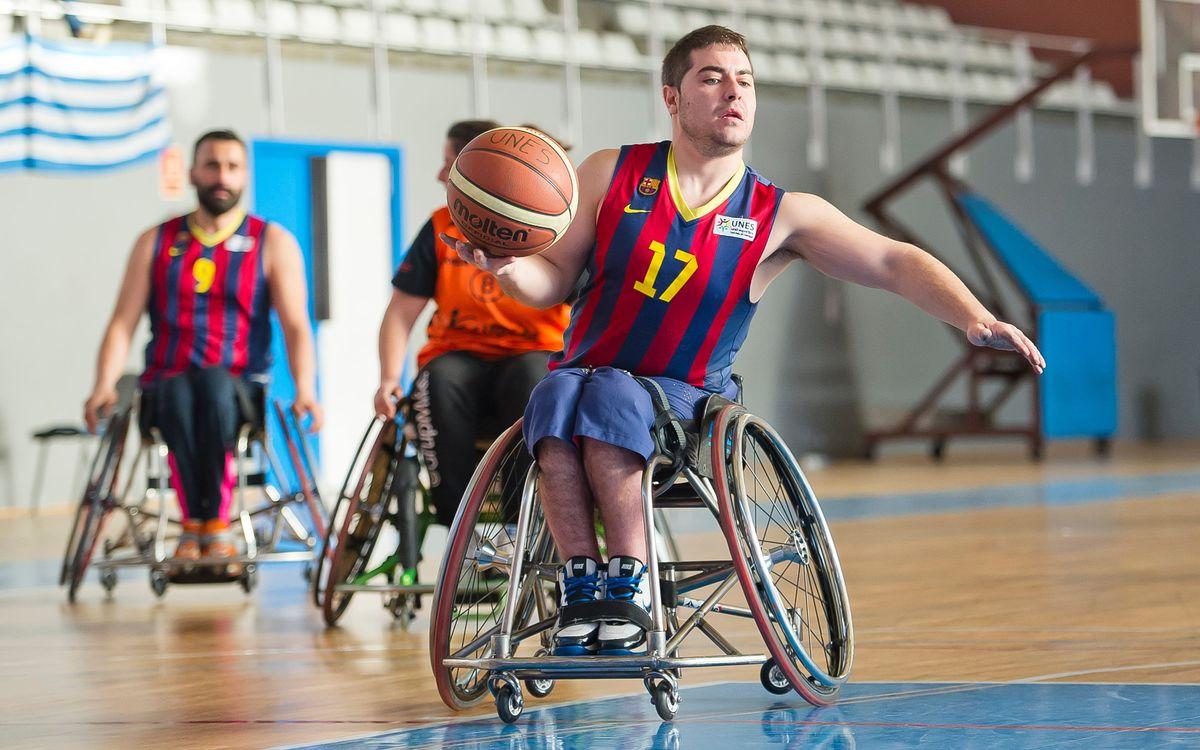 L'equip de bàsquet en cadira de rodes, invicte a la primera volta