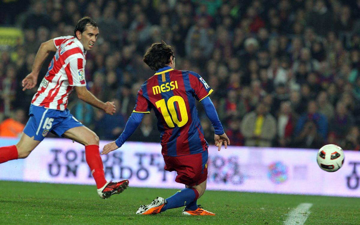 Leo Messi, specialist against Atlético Madrid
