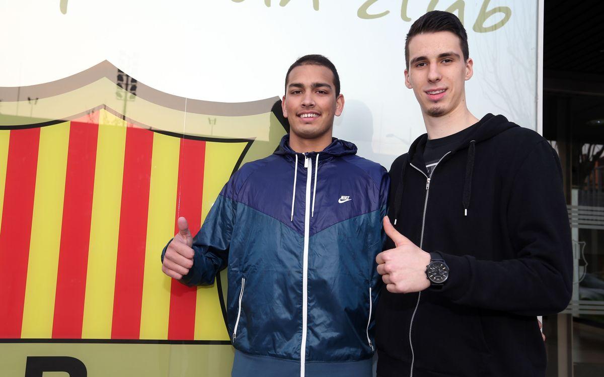 Nedim Djedovic i Stefan Peno allarguen la seva vinculació amb el Barça
