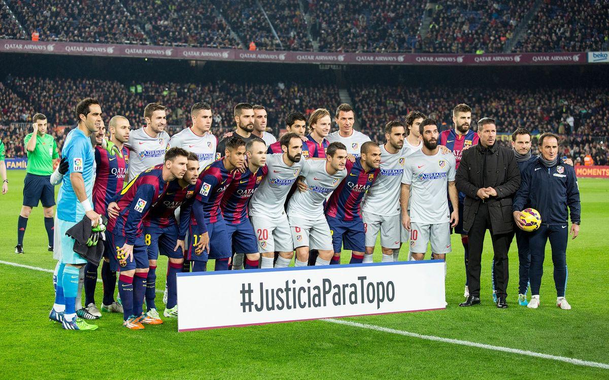 El Barça se suma a la campanya #JusticiaparaTopo