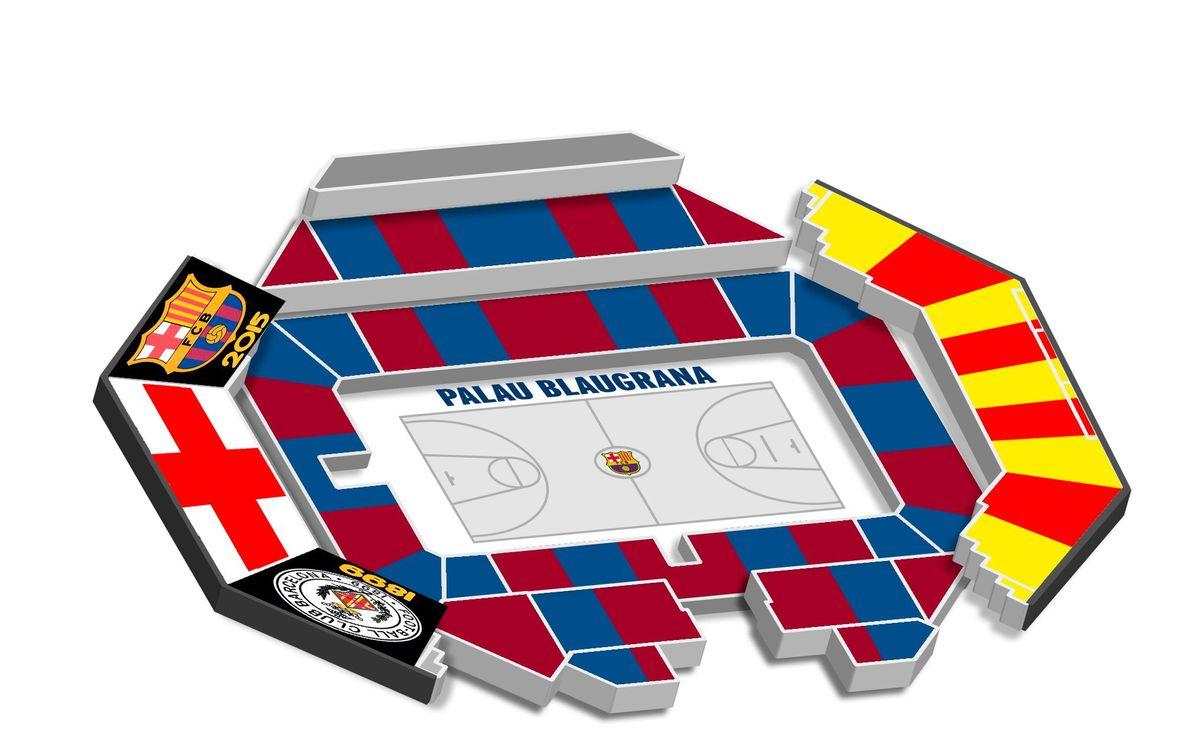 Així serà el mosaic del Clàssic Barça-Madrid al Palau