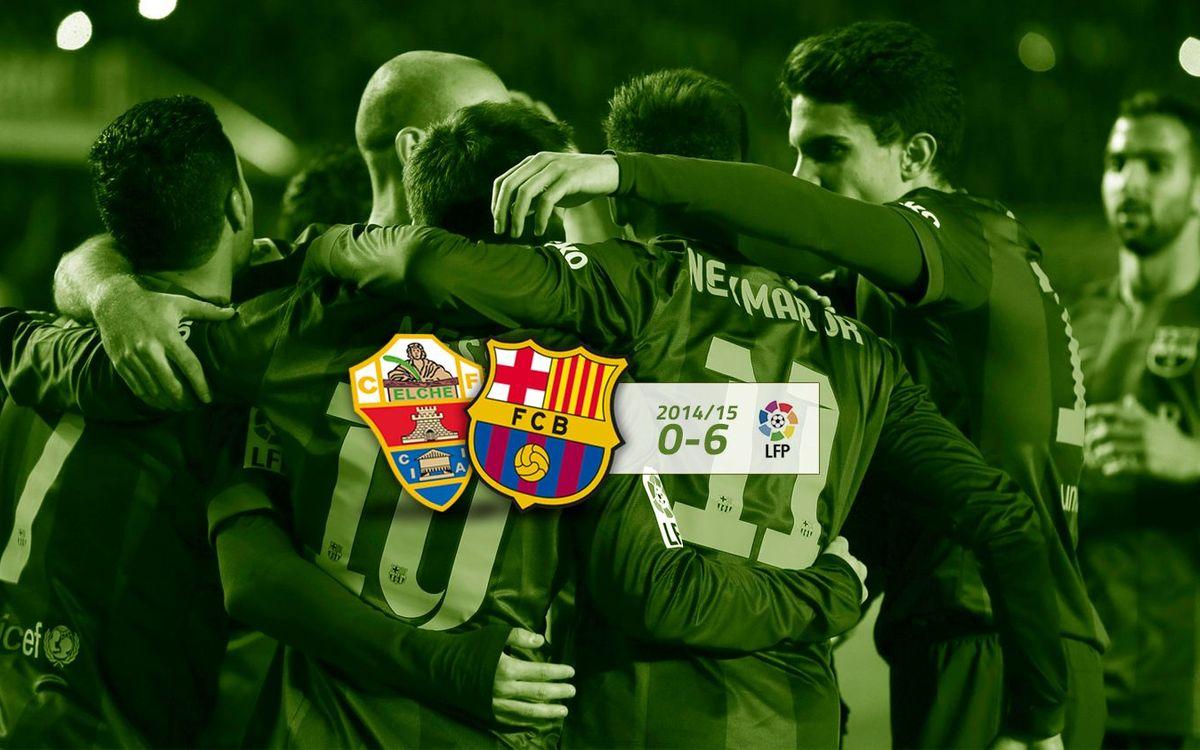 Elx CF: 0 - FC Barcelona: 6