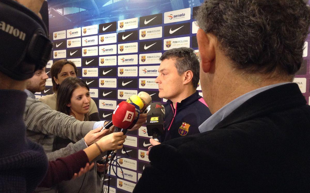"""Xavi Pascual: """"No és referent el partit de Lliga"""""""
