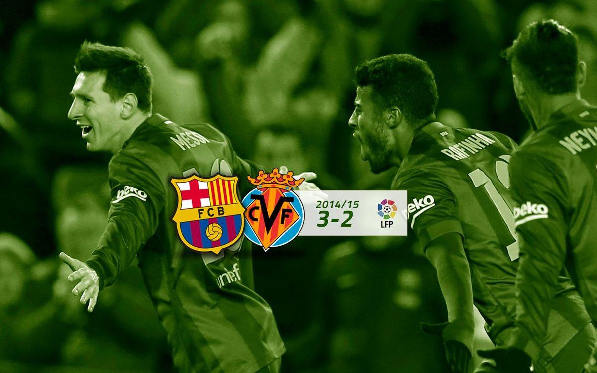 FC Barcelona: 3 - Vila-real: 2