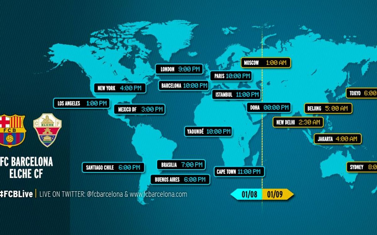 When and where to watch FC Barcelona v Elche