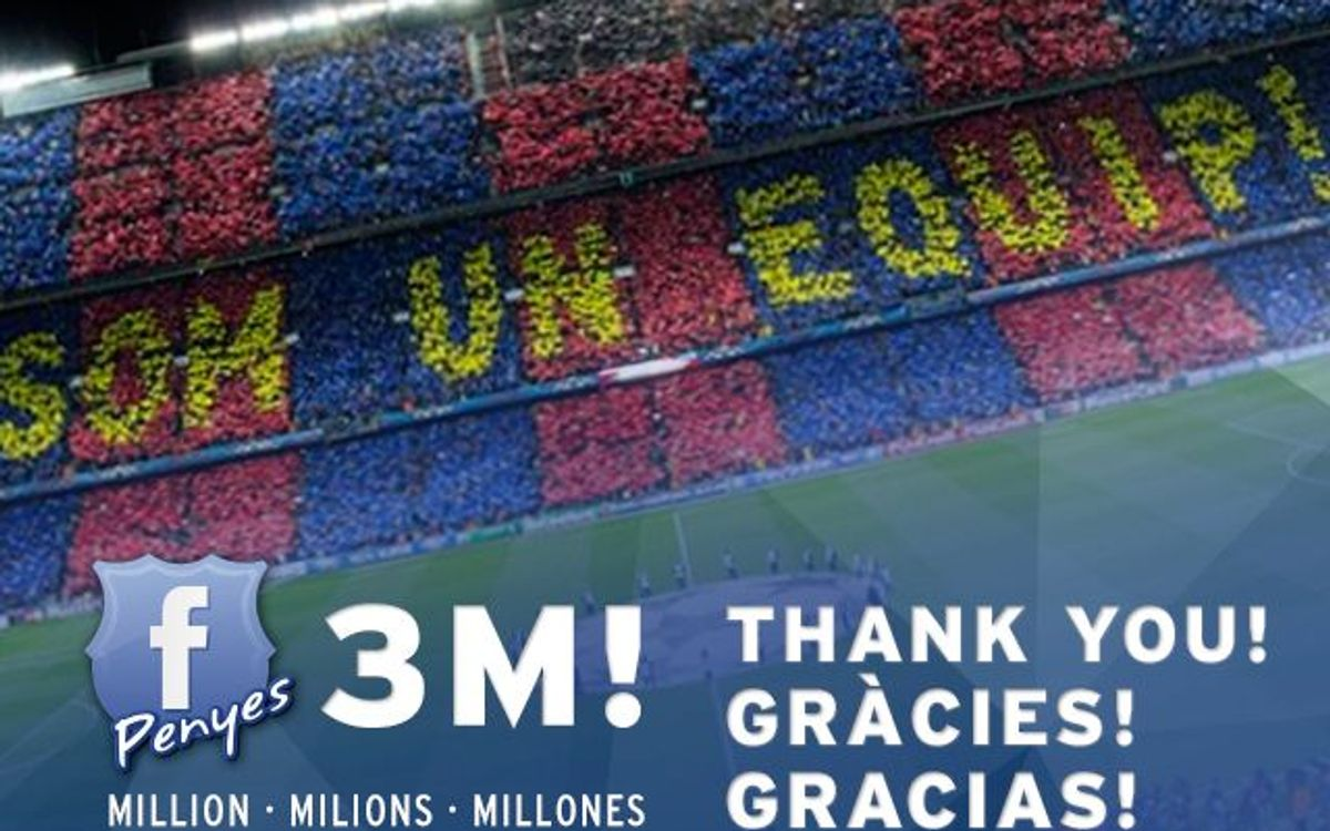 Three million Facebook followers